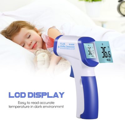 Infrared Thermometro Laser IR Temperature Meter Digital Non contact Thermometro Gun LCD Display with Fever Alarm Household Use| |   – AliExpress 2