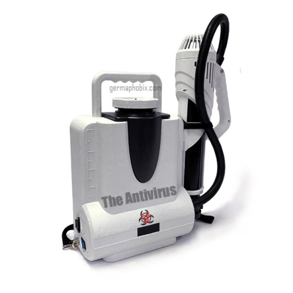 The Antivirus Electrostatic Backpack Sprayer Updated Version 2.0 Model CURRENTLY IN STOCK!! Limited availability due to high demand. Decontaminate and attack viruses and microbes with the power of our state-of-the-art electrostatic disinfecting machine. Maximize your output and get up to 4x more surface coverage than with traditional cleaning equipment with this proven technology. One tank can cover up to 21,500 sq/ft of space in nearly any environment to help reduce infection rates even in the largest facilities. Benefits of using The Antivirus Electrostatic Sprayer: Consumes up to 65% less chemicals Applies disinfectants up to 70% faster Works with any EPA-approved, water-based disinfectant No need for external power supply, one-button start, flexible and convenient Military-grade waterproof standard, high-speed brushless fan Intelligent automatic water cleaning cycle system Multi-functional imported ceramic spray head, can be switched at will, ultra-low, can be used both indoor and outdoor Built-in power display LCD screen can show working time and environment temperature at any time Long continuous working for 6-8 hours indoors and 3.5 hours outdoors on a single charge Intelligent fast charge-only two hours when fully charged, sustainable work No pollution, zero emission, no exhaust, low noise Large caliber water inlet Warranty: 12-month limited warranty on parts Current delivery time of 3-5 business days from order date with Express Shipping. Standard delivery time for Free Shipping of up to 4-6 weeks. Requires custom promo code, please ask via live chat. For wholesale or bulk orders, please use the Contact us page. Important Notice: This is not a pesticide device and is not to be used as such. This is only meant to disperse cleaning and disinfecting products according to those product instructions. We do not sell any pesticides or pesticidal products. Recommended disinfectants: Biocide 100 or Shockwave