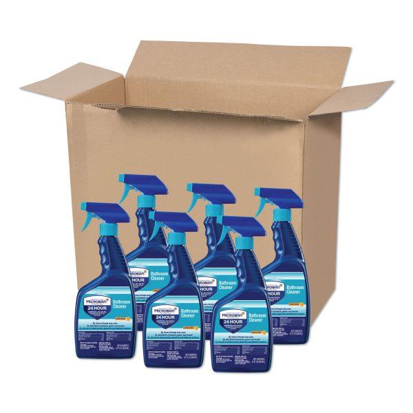 Microban Disinfectant 32 oz Bathroom Cleaner, Citrus, 6 Bottles
