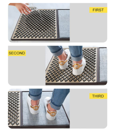 Elite Sanitizing & Disinfectant Floor Mat This is a sanitizing shoe mat which is made of high quality PVC materials for durable long time use. Our mats are the future of floor mats. Not only will they remove the dirt from the bottom of your shoes they can sanitize as well. Please contact us directly to ask about our special non-toxic disinfectant. Safe and non-slip, the floor mat has a double non-slip design that provides a firm grip on the ground to prevent slipping. This improved overall stability makes it ideal for all ages. Easy to install, A quick 3 step process will have your mat ready to use in less than 2 minutes. Water or disinfectants can be added to reduce infections. Easy to clean, when the mats are dirty they can be cleaned with water and mild detergent.