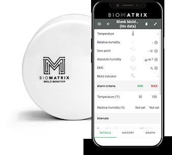 biomatrix mold detector monitor biocide labs