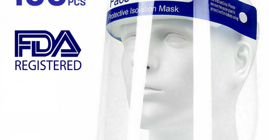 full-shield face masks